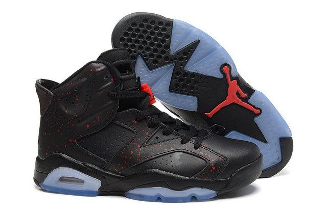 Air Jordan 6 Retro Shoes Black/red